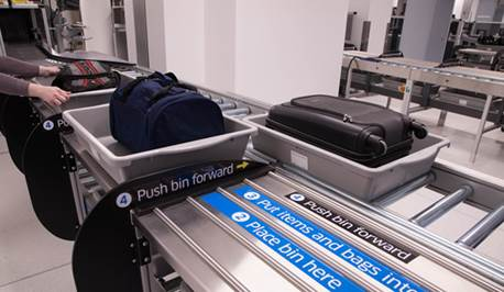 Image result for Newark Airport terminal c security new bin system