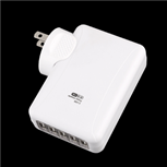 USB Charger, Universal 5-Port USB Wall AC Charger Adapter for iPad iPhone Mobile Devices (Max 3A), White